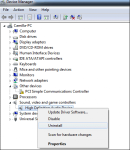 Uninstall and Reinstall the Sound Driver to Fix No Audio Output Device is Installed Issue