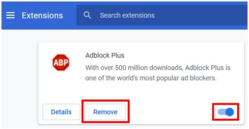 Remove Browser Extensions