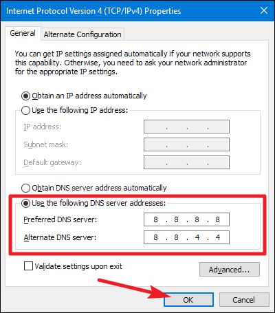 """Change the DNS Address to Fix """"This Site Can't Be Reached"""" Chrome Error"""