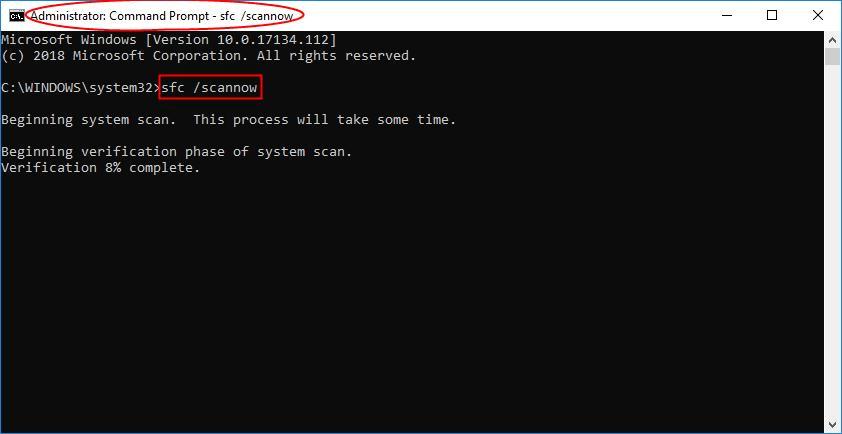 Run SFC (System File Checker) scan