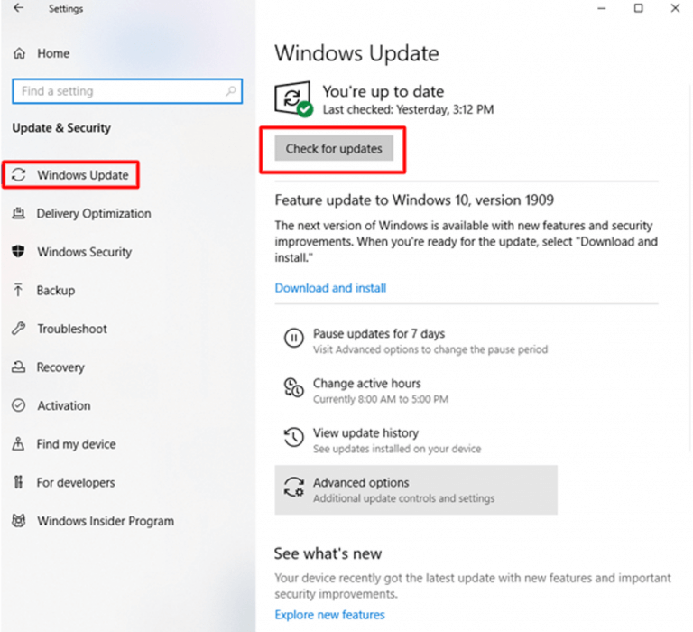 Update the outdated drivers in Windows 10