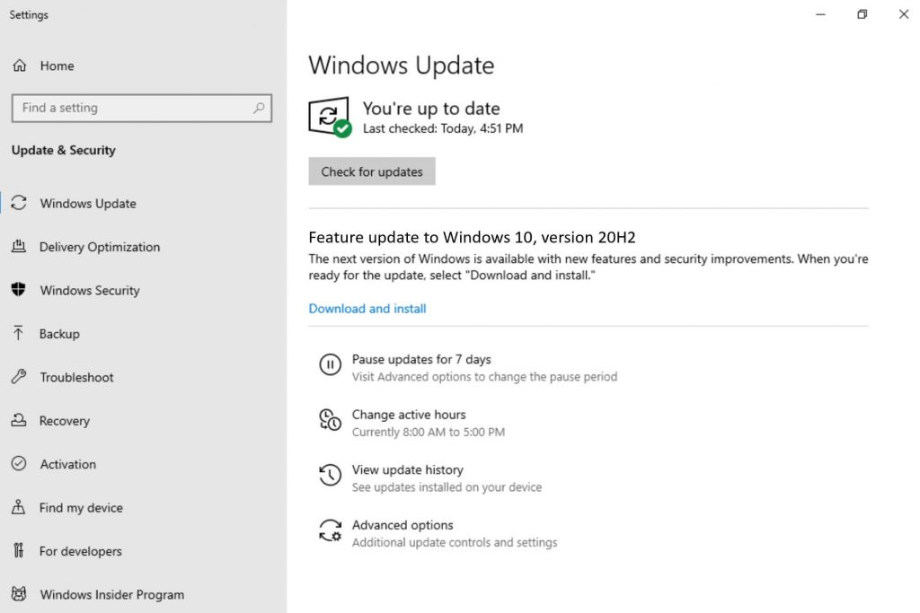 update windows to fix auto hide taskbar