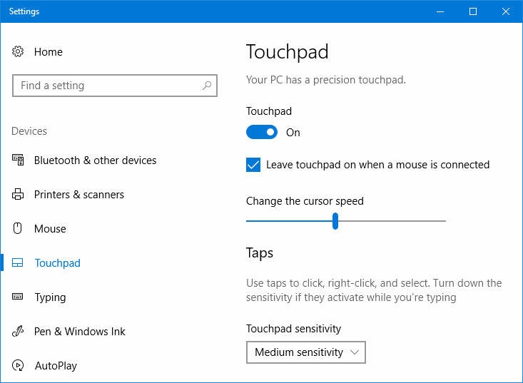 Revisit the touchpad settings to fix Right Click Doesn't Work on Touchpad