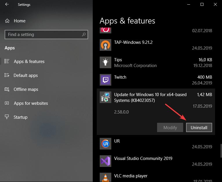 Uninstall Windows Setup Remediations