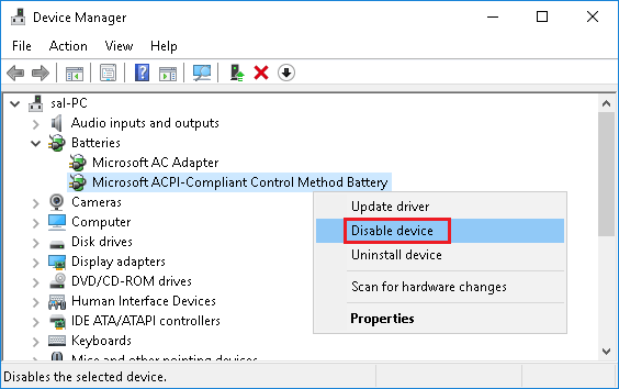 Microsoft ACPI-Compliant Control Method Battery
