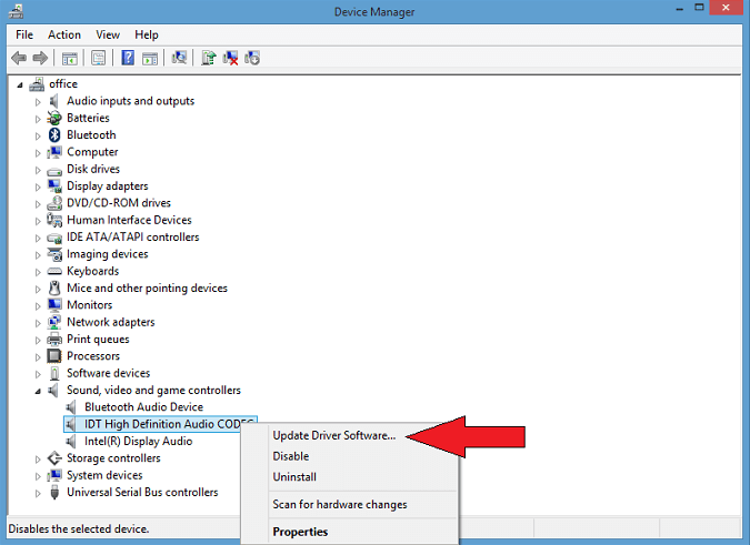 Device Manager-Sound, video and game controllers