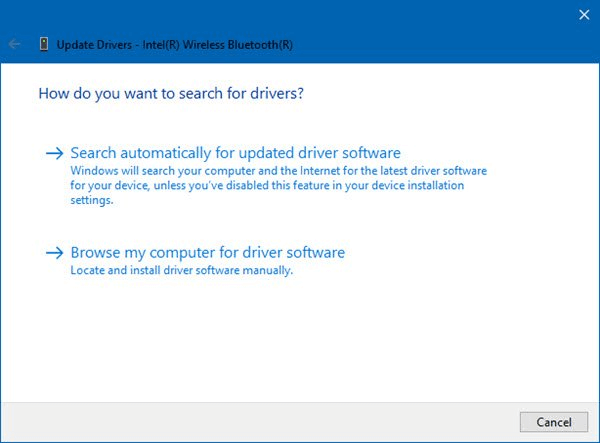 Update Drivers-Intel(R) Wireless Bluetooth(R)