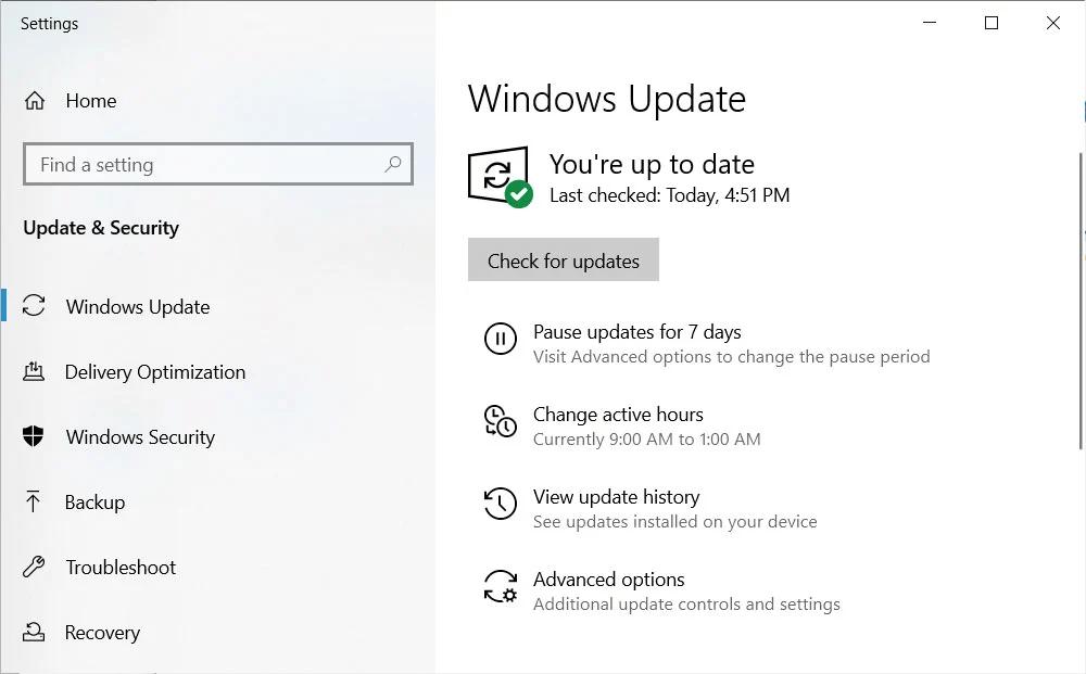 Windows Update- Common Driver Problem