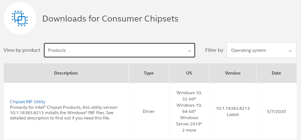 "choose ""consumer chipsets"""