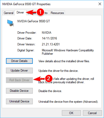 Roll Back Driver to Fix Driver Power State Failure Error