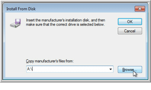 click browse and then navigate to the location where you saved the downloaded USB 3.0 driver file