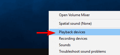 Select playback devices option and fix no sound issue
