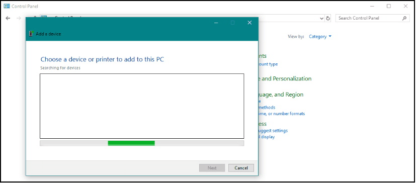 Click on add a device option to fix bluetooth mouse not working