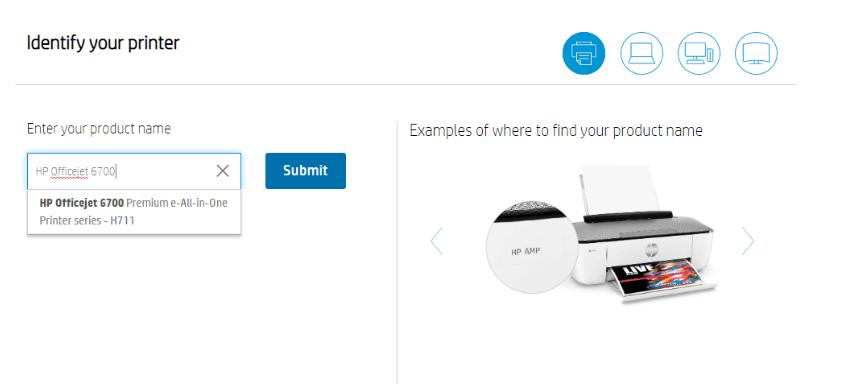 Search HP Officejet 6700 printer