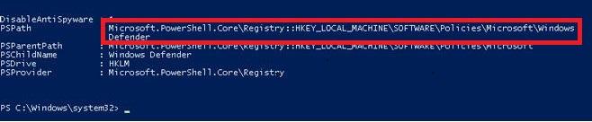 Windows Defender directory