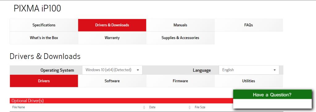 Download Canon iP110 Printer Driver