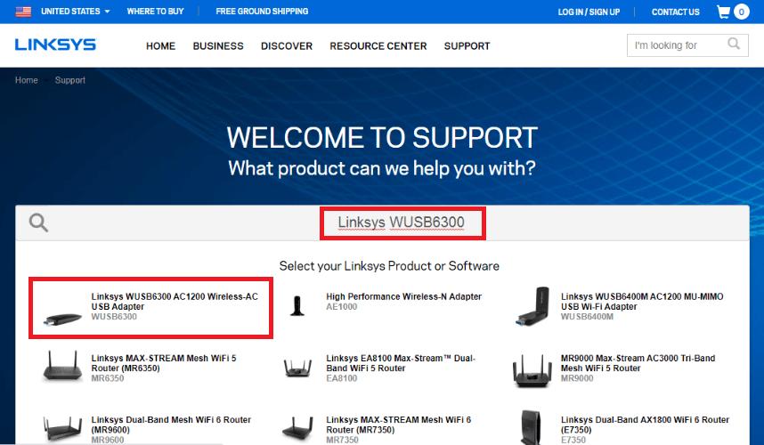 Linksys WUSB6300 AC1200 Wireless-AC USB Adapter