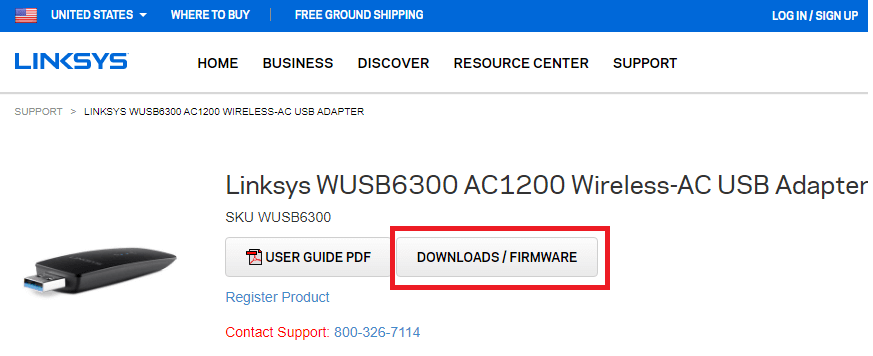 Select the DOWNLOADS-FIRMWARE option