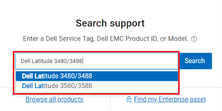 Search Dell product