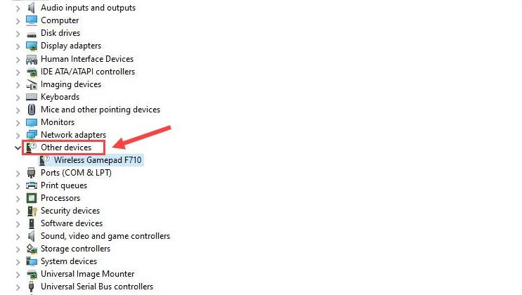 double click on the Unknown devices or other devices option
