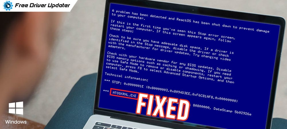 How to Fix Ntoskrnl.Exe BSOD Blue Screen Error on Windows