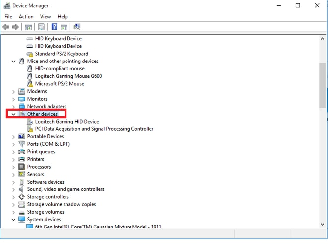 navigate other devices for PCI Data Acquistion and Signal Processing Controller