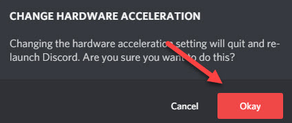 change hardware acceleration