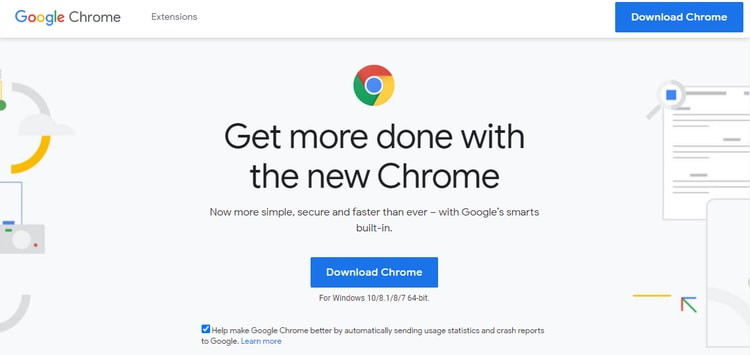 google chrome official support page and download google chrome