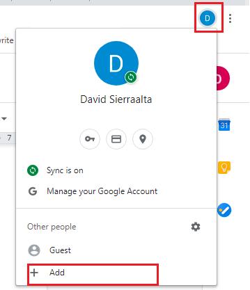 add new profile in google chrome