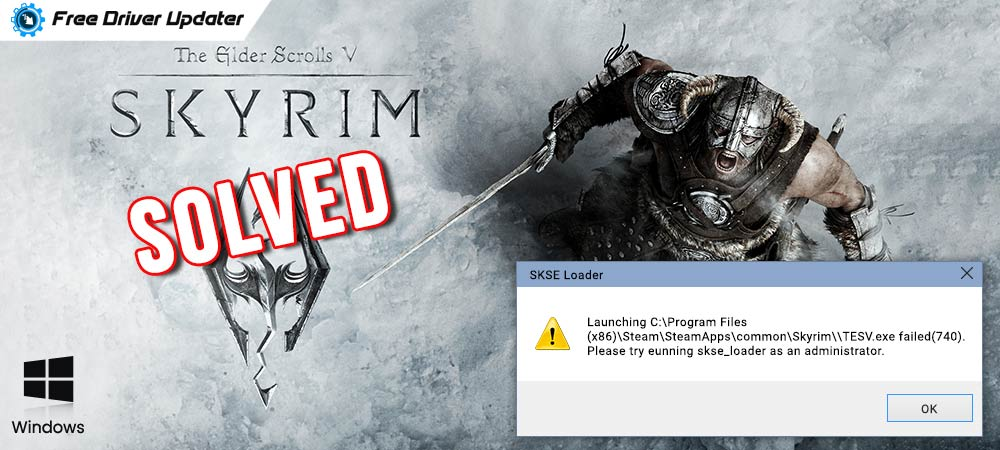 Solved-Skyrim-Won't-Launch-Problem-on-Windows-10