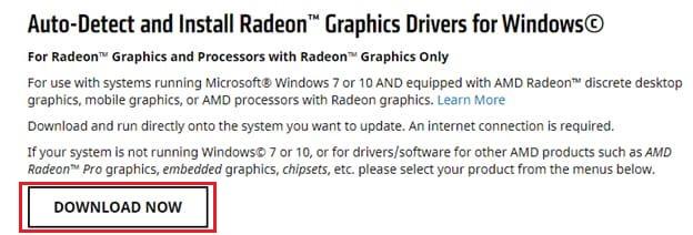 AMD Driver Autodetect Utility