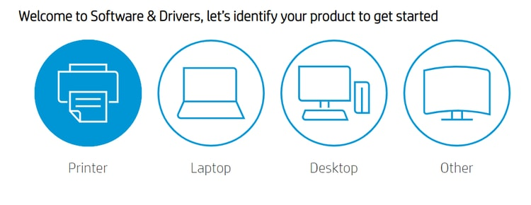 identify product for software and driver