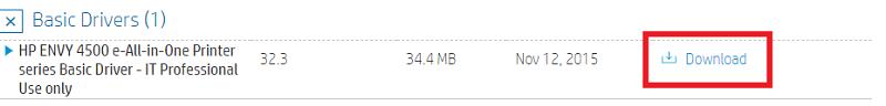 Download HP Envy 4500 printer driver