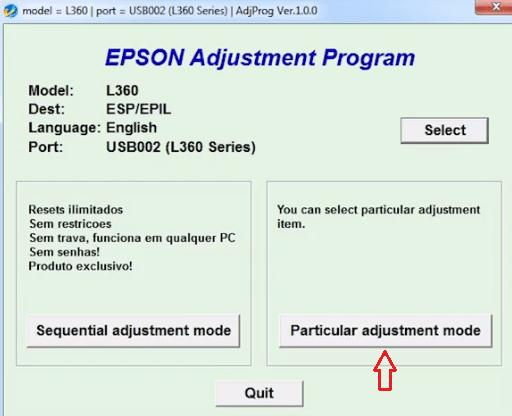 Choose an option called Particular Adjustment mode