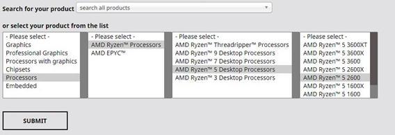 Select AMD Ryzen 5 2600 Processors