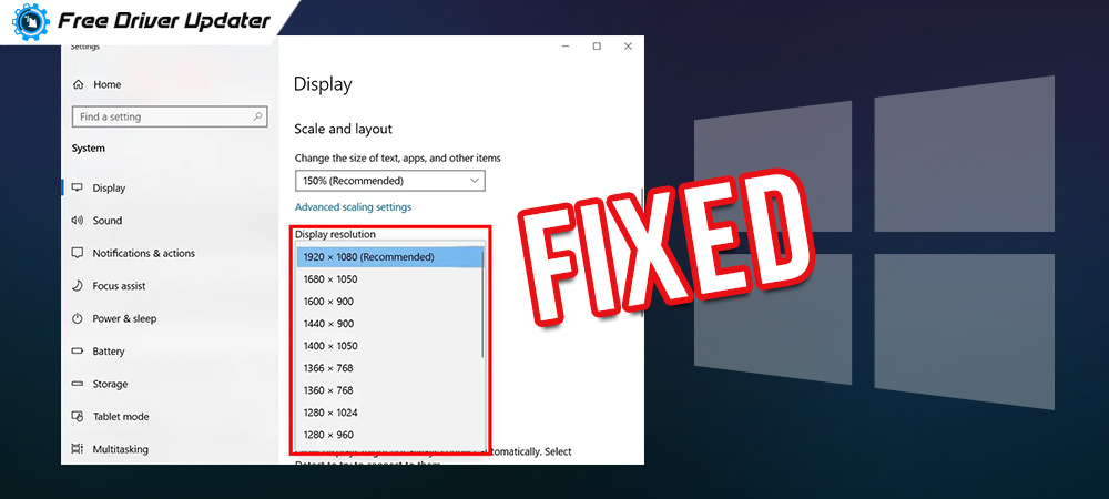 Stretched Screen Horizontally Issues in Windows 10 [FIXED]