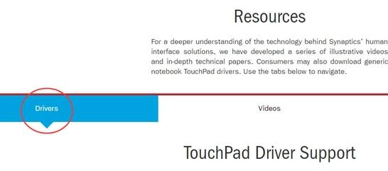 TouchPad Driver Support