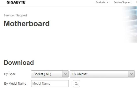 Input The Model Number And Click The Search Icon