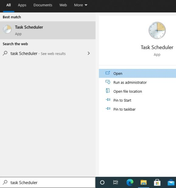 Click on Task Scheduler to Open