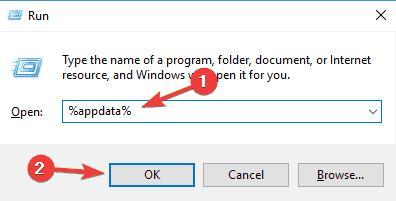 type %appdata% in the box