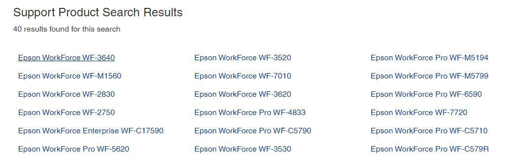 Click on the Epson WF-3640