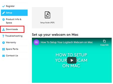 download logitech webcam driver