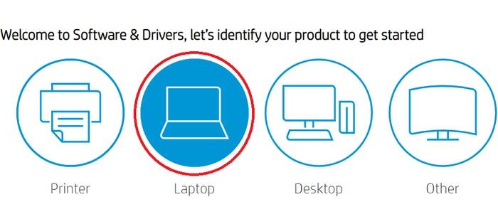 Choose Laptop Option