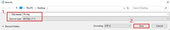 Save File in Reg File Type
