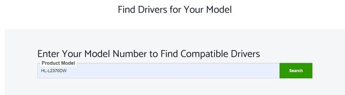 Find Brother HL-L2370DW Driver Model