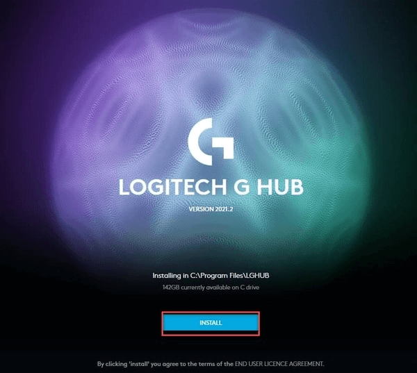 Install Logitech G HUB
