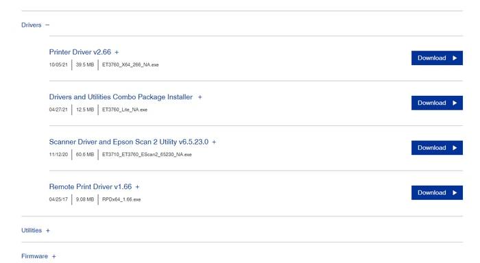 Download Epson EcoTank ET- 3760 Printer Driver